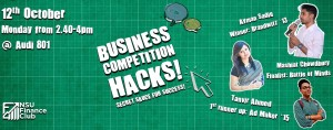 NSU Finance Club Presents 'Business Competition Hacks!