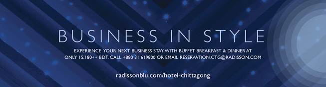 Radisson Blu Chittagong Bay View Introduces the  Business Class