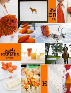 hermes-inspiration-board-orange-camille-styles-events