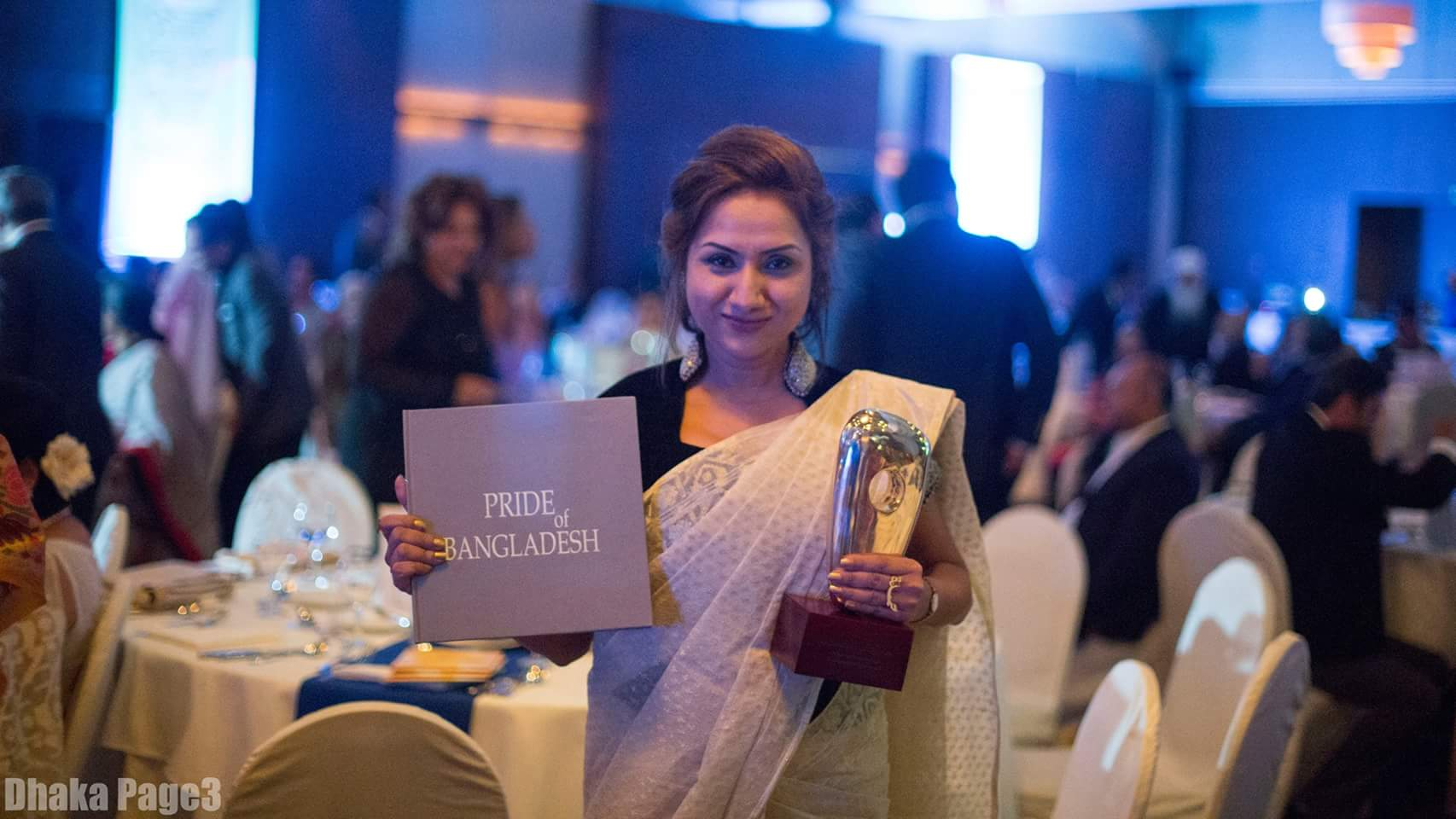 Nazia Andaleeb Preema receives PRIDE OF BANGLADESH Award