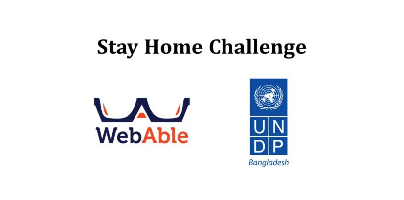 Stay Home Challenge with Webable and UNDP