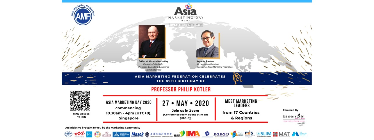 Asia Marketing Day 2020 to be Celebrated Virtually on May 27, 2020 (Saturday) across Asia