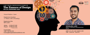 """3 DAY VIRTUAL CERTIFICATION COURSE ON """"THE ESSENCE OF DESIGN"""""""